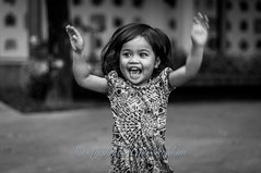 Yeay! (Syahrel Azha Hashim) Tags: street travel light vacation portrait bw holiday detail girl 50mm prime blackwhite nikon dof bokeh expression getaway streetphotography naturallight portraiture malaysia handheld shallow moment simple johor alisya d300s kotaiskandar puteriharbor syahrel
