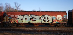 D30 (quiet-silence) Tags: railroad art train graffiti railcar graff d30 hopper freight bnsf fr8 dirty30 bnsf450763