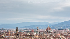 Florence from San Miniato (generalepeppone) Tags: italy architecture canon landscape florence san italia cityscape view miniato canonuser canon700d