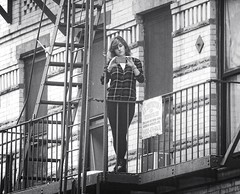 (Goggla) Tags: new york nyc bw fire escape village cellphone east fireescape