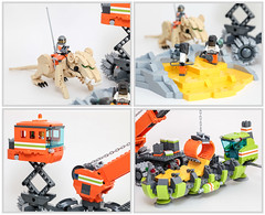 Moon Cheese Miners (Galaktek) Tags: lego space scifi minifig galaktek