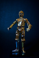 C3P0 stance 1 (Malasad0) Tags: scale toy star robot model plastic wars android droid c3po bandai protocol