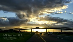 Highway to Cape Town (Dreamcatcher photos) Tags: bridge sunset cars clouds highway rays tablemountain capetownsouthafrica dreamcatcherphotos