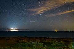 Lightning over the channel between Sussex and France (Nick_Rowland) Tags: sea sky night stars sussex coast lightning sevensisters beachyhead birlinggap