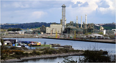 Blot on the Landscape (Welsh Gold) Tags: plant wales train docks south newport barry chemicals chemical corning dow adj 66059 6b39