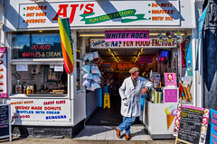 Whitby, North Yorkshire (H@y1ey) Tags: man rock seaside nikon whitby northyorkshire shopfront shopkeeper d3300 ajsfunfoodfactory