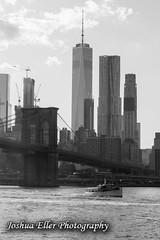 Manhatten (Joshua Eller) Tags: newyorkcity boat brooklynbridge eastriver skyscrapper brooklynbridgepark freedomtower