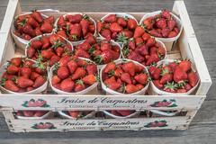 20160415 Provence, France 02274 (R H Kamen) Tags: food france retail fruit strawberries abundance marketstall vaucluse foodmarket carpentras plentiful provencealpesctedazur westernscript rhkamen