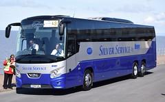 SS16GAL  Galleon Travel, Roydon (highlandreiver) Tags: travel 2 bus silver coach rally lancashire service blackpool coaches futura leger galleon roydon vdl ss16gal