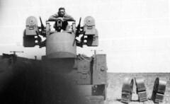 119A-A-LLC3-Cluff&Quad50-LocUnk-44-45 (ArgyleMJH) Tags: worldwarii 1945 gi 1944 eto worldwar2 usarmy machineguns mesaarizona quad50 antiaircraftartillery thirdarmy 119thaaagunbn lewiscluff