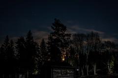 Moonshine (Pilleluringen) Tags: wood longexposure trees sky moon nature architecture night landscape sweden outdoor moonshine hrnsand highcoast