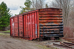End of the Line (hz536n/George Thomas) Tags: railroad copyright train canon rust michigan may rusty canon5d nik rusting upnorth dm hdr 2016 ioscocounty cs5 ef100mmf28lmacroisusm