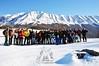 Gruppo degli amici di Majellando alla ciaspolata a Lama Bianca - Majella - Abruzzo - Italy