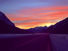 Road to Kicking Horsee (Thought Knots Design) Tags: road travel sky sun canada art skyline photoshop landscape photography design colorful thought colours infinity horizon canadian retro future funk colourful knots kickinghorse thoughtknotsdesign