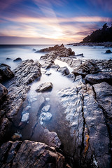 Silky (jpmiss) Tags: longexposure sunset sea mer france canon rocks mediterranean cotedazur paca fr antibes coucherdesoleil rochers 6d frenchriviera mediterrane 1635mm gnd poselongue provencealpesctedazur nd1000 leefilters jpmiss
