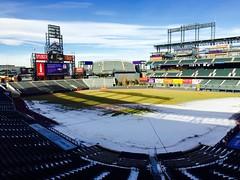 Coors Field in January, Rockies FanFest, view from a broadcast booth. (f l a m i n g o) Tags: sports field rockies colorado baseball january denver 23rd coorsfield fanfest 2016