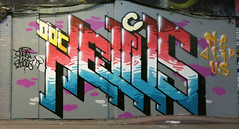 Nelius (cocabeenslinky) Tags: street city uk england urban streetart london art writing canon graffiti paint artist power shot photos south united capital letters january kingdom tunnel can spray powershot east waterloo graff doc leake se1 artiste 2016 g15 nelius ©cocabeenslinky