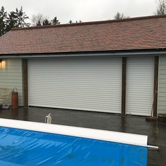 Two SWS roller shutters in Storrington. January 2016