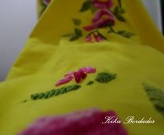 KikaBordados Kika  Krauss 080 (Kika Bordados by Angelica Krauss) Tags: pink flowers flores handmade embroidery laranja crochet tshirt amarelo bordados manualidades croche embroider feitomo camisetabordada camisetabordadamo bordadosfeitomo kikabordadoskikakrauss
