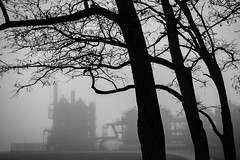 Gasworks Park (Penseroso) Tags: seattle fog gasworkspark