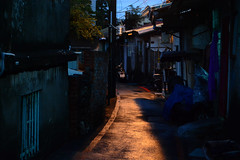 Evening Alleyway 2 (Bob Hawley) Tags: evening asia taiwan kaohsiung streetscenes lanes alleyways zuoying nikon50mmf14 militaryvillage nikond7100