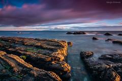 Marea (sergio estevez) Tags: costa luz azul marina landscape atardecer mar agua paisaje rocas tarifa espuma granangular largaexposicin guadalmesi tokina1116mmf28 sergioestevez