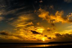 Barry Island sunset (technodean2000) Tags: uk sunset sun colour beach silhouette wales clouds island nikon south barry welsh lightroom d610