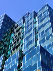 Office Building, Willowdale Ontario (duaneschermerhorn) Tags: blue windows toronto reflection glass architecture modern facade skyscraper contemporary highrise