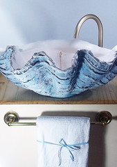 Blue Sink 2 (LittleGems AR) Tags: ocean blue sea sculpture sun beach home giant bathroom shower aquarium soap sand bath sink unique decorative aquamarine shell craft style toilet towel clam basin special clean shampoo taps wash seashell pearl nautical reef decor spa luxury opulent fossils clamshell mollusks cloakroom bespoke tridacna sculpt crafted gigas facetowel