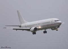 Fly Baghdad 737-400 YI-BAJ (birrlad) Tags: ireland rain weather fly airport wind landing shannon finals return baghdad boeing approach runway 737 crosswind b737 737400 snn b734 lessor 737405 yibaj