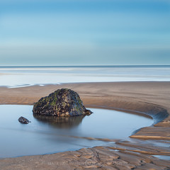 A Moment of Calm (Mark Heslington Photography) Tags: uk england sky seascape blur color colour beach landscape big rocks long exposure yorkshire united north kingdom lee scarborough filters stopper polariser sopper