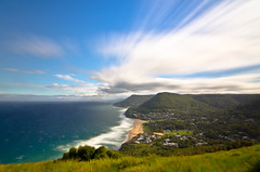 Stanwell Tops lookout (PhilliB123) Tags: ocean beach clouds canon coast long exposure waves south lookout line nsw tops t3i stanwell 600d