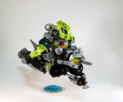 Master of Currents - Lesovikk G2 (0nuku) Tags: green underwater lego air submarine master vehicle g2 glider bionicle toa 2015 faxon uniter ccbs mahrinui lesovikk karzahni ussanui