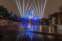 Disneyland in the rain (Jonny C.) Tags: longexposure rain nikon disneyland disney sleepingbeautycastle nikond610
