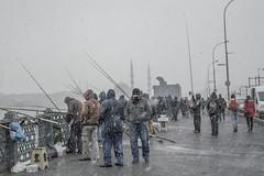 DSC_1659 (zeynepcos) Tags: bridge winter snow man cold fishing fisherman outdoor istanbul mosque galata karakoy eminonu