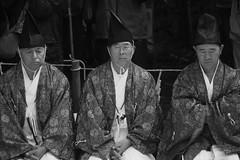 3 shinto priests (l e o j) Tags: 3 men festival japan canon eos rebel three dance kiss shrine traditional ceremony miyazaki kagura shinto  matsuri jinja priests xsi x2          nichinan kannushi eboshi 450d   shinshoku  ushiodake