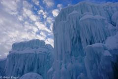 Ice Castles (Brian Eagar Nature Photography) Tags: blue winter sky white snow castle ice outside grey fuji outdoor gray january fujifilm icecastle 2016 xt1 xf16 fujixt1 fujixf16