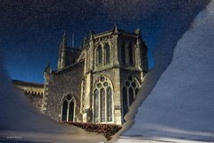 Ripples On St Mary's (Silver Machine) Tags: road reflection church landscape puddle hampshire andover canoneos stmaryschurch canonefs1022mmf3545usm canon600d