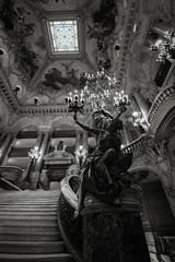 bouquet of lights (alouest225) Tags: blackandwhite paris france monochrome statue stairs nikon opera noiretblanc d750 opra intrieur escaliers palaisgarnier opragarnier