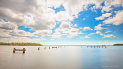 Lake Macquarie (Young Ko) Tags: longexposure blue sky composition landscape interesting nikon cloudy atmosphere australia harmony newsouthwales lonely minimalism lakemacquarie morisset
