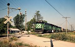 BN, Armour, Missouri, 1983 (railphotoart) Tags: unitedstates missouri armour sb stillimage