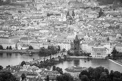 View from Petrin Tower, Petnsk Rozhledna, of St Charles Bridge, Church of Our Lady before Tn, Vltava River, Prague, Czech Republic (Kris McNeil) Tags: bridge our church st lady river republic czech prague charles before most vltava karlv tn petrintower petnskrozhledna