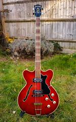 My Hfner Verithin Bass (cybertect) Tags: red bass bassguitar hofner hfner verithin sonya7 canonfd28mmf20