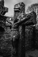 Christ (Ails N hgeartaigh) Tags: ireland church monochrome zeiss europe christ cross sony religion jesus graves christianity za 2016