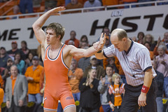 Oklahoma State Cowboys vs Stanford Cardinal Wrestling Dual, Sunday, February 14, 2016, Gallagher-Iba Arena, Stillwater, OK. Bruce Waterfield/OSU Athletics (OSUAthletics) Tags: cowboys cardinal wrestling osu stanford su stanforduniversity big12 oklahomastateuniversity pac12