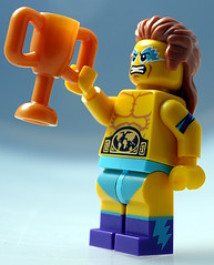 Wrestling Champion (aktuaroslo) Tags: macro lego minifig 71011 leica45mm collectableminifigures lumixgh4