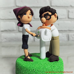 Carl and Ellie Movie UP wedding cake topper (Anna Crafts) Tags: wedding decorations cake toppers topper