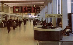 Lobby Ticket Area, Chicago O'Hare Airport, Illinois (SwellMap) Tags: architecture plane vintage advertising design pc airport 60s fifties aviation postcard jet suburbia style kitsch retro nostalgia chrome americana 50s roadside googie populuxe sixties babyboomer consumer coldwar midcentury spaceage jetset jetage atomicage