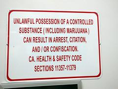 Don't bring your weed on the plane sign, Burbank Airport, Burbank, California, USA (gruntzooki) Tags: california ca usa signs sign cali bur aviation crime cal drugs law burbank marijuana warondrugs