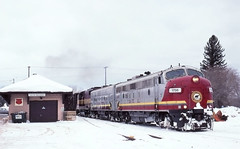 A rare sight (ac1756) Tags: 2001 winter snow cold mi fb wc 1756 wisconsincentral emd wcl newberry 1761 2553 gp35 fp7a